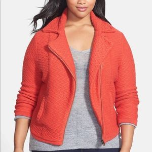 Lucky Brand Textured Sweater Jacket 2X